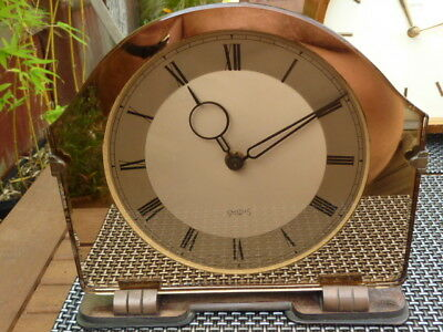 Smiths Art Deco 8 Day Mantel Clock Good Working Order