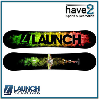 LAUNCH Hitmaker Men's Snowboard, Park Camber Profile, 149cm