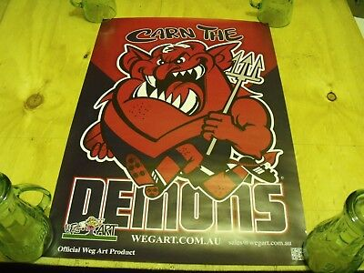 Melbourne Demons Weg Poster and Collector Cards