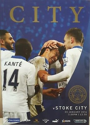 2015/16 - LEICESTER CITY v STOKE CITY 23rd January2016 ~ With Collectable Poster
