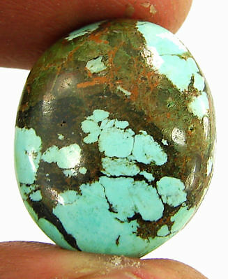 21.75 Ct Natural Tibet Turquoise Loose Gemstone Cabochon Stone - 20108