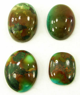 70.25 Ct Natural Tibet Turquoise Loose Cab Gemstone Wholesale Lot 4 Pcs - 20072