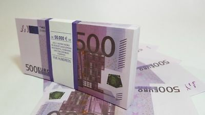 €500 EURO SOUVENIR BANKNOTE 1 pack for Prank, Games, Movies & Videos and Gift