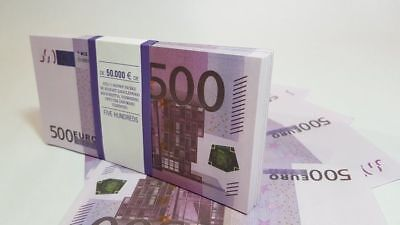 500 EURO SOUVENIR BANKNOTE 1 pack for Prank, Games, Movies & Videos and Gift