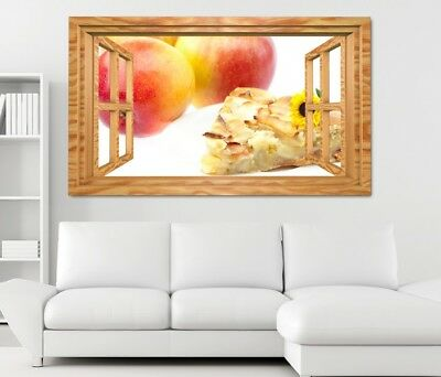Autocollants 3d Sticker Mural Kiwano Fruits Cuisine Baie Papier