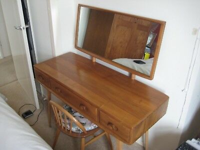 Ercol Dressing Table & Chair with Cushion. Lovely Condition.
