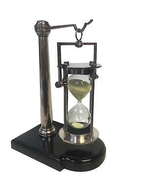 Authentic Models 30 Min. Hourglass-Stand, Silver - 30 min Sanduhr mit Halter, si