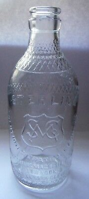 Embossed Sterling Solution Citrate Of Magnesia New York Apothecary Bottle