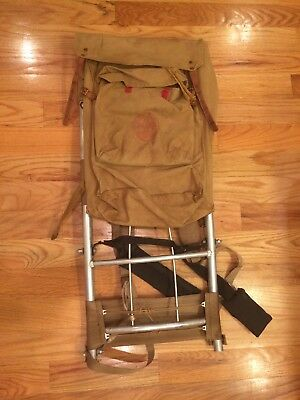 Vtg BSA Boy Scouts 1329 Deluxe Yucca Canvas Pack Backpack w Large Cruiser Frame