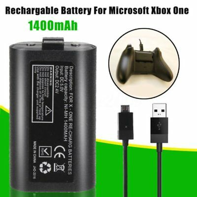 For XBox One Charge and Play Kit Rechargeable Battery & Charging Cable RT