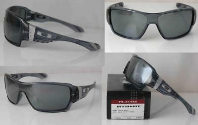 Oakley Sunglasses Polarized Offshoot Crystal Black Frame Black Iridium Lens  New