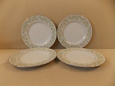 "Wilshire House ""Country Garden"" 4 Salad Plates"