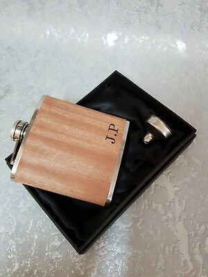 6oz silver personalised Hip Flask.Bridal Party gift with box choice sf7