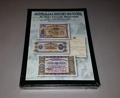 Australian History 1901 to 2001 As Seen Through Banknotes Hard Cover Brand New