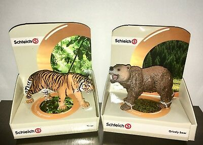 Schleich Animal Lot Bear and Tiger Brand New in Box
