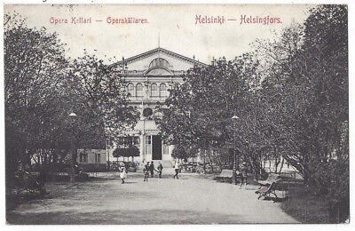 HELSINKI Opera Kellari Theatre, Old Postcard Postally Used 1907