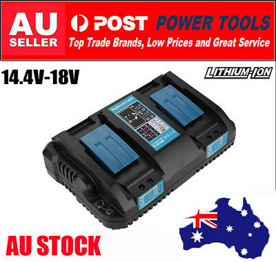 Makita DC18RD 18V Li-Ion Cordless Battery Rapid Fast Dual Port Fast Charger AU