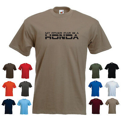 'My other car is a Honda' Mens Driving Japanese Car Tshirt SALE Red Large