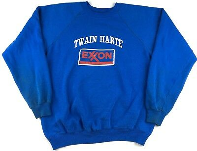 Vintage Twain Harte Exxon Gas Station Men's Crewneck Sweatshirt Size Large 42-44