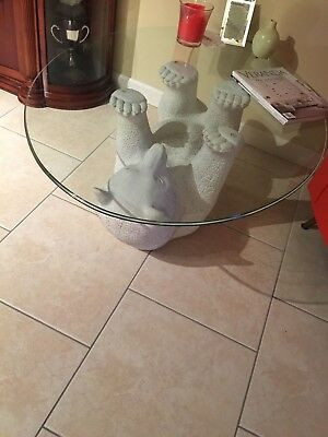 Glass top Polar Bear table