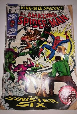 The Amazing Spider-Man King-Size Special #6 ==> Fn+ Sinister Six Marvel 1969