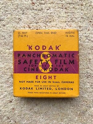 Kodak Panchromatic Eight Safety Film 8mm vintage movie film