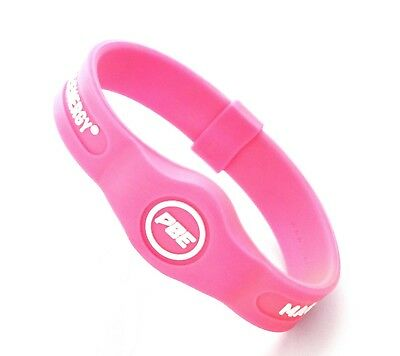 (Pink/White, Medium - 19cm) - *NEW* Power Balance ENERGY® Magnetic Therapy