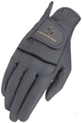(Size 11, Dark Grey) - Heritage Premier Show Glove. Shipping Included