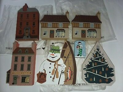 The Cat's Meow ~ Set of 7 Christmas pieces ~ New in bags ~ Snowman mailbox