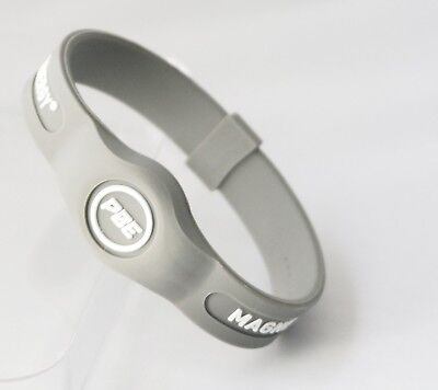 (Grey/White, Small - 17.5cm) - *NEW* Power Balance ENERGY® Magnetic Therapy