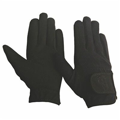 (Large, Black) - TuffRider Children's Performance Gloves. Free Shipping