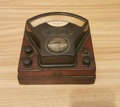 Antique 1800's Weston Direct Current Voltmeter Model 1
