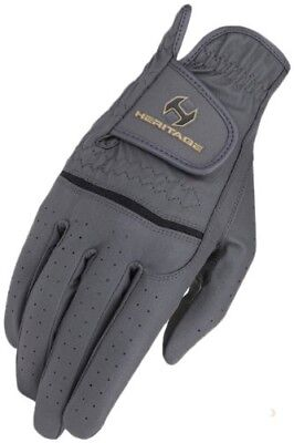 (12, Dark Grey) - Heritage Premier Show Glove. Heritage Products