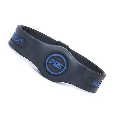 (Black/Navy, Large - 20.5cm) - *NEW* Power Balance ENERGY® Magnetic Therapy