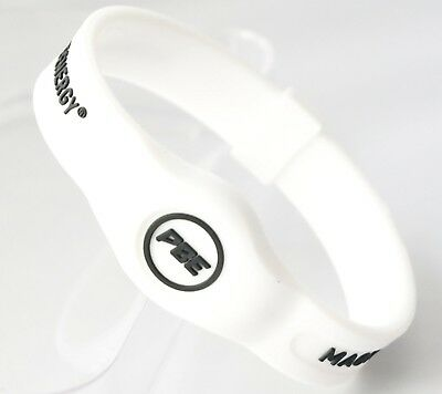 (White/Black, Medium - 19cm) - *NEW* Power Balance ENERGY® Magnetic Therapy