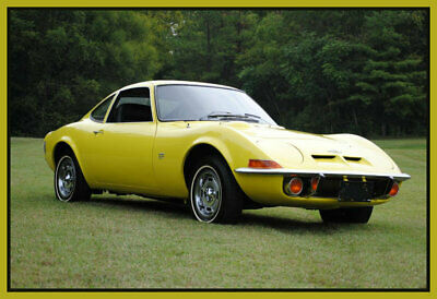 1970 Buick Opel GT, Yellow, Refrigerator Magnet,40 MIL