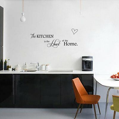Kitchen Is The Heart Of Home Wall Stickers Cooking Quote Wall Decal Home UK