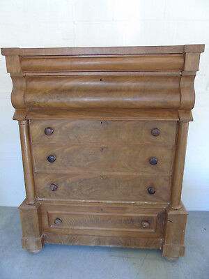 Magnificent Victorian Walnut Scottish Chest of Drawers : For light restoration