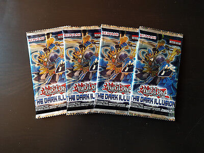 Yugioh - Booster Packs The Dark Illusion 4 Stück *NEU*