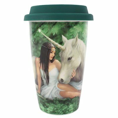 Pure Heart Ceramic Travel Mug With Lid By Anne Stokes