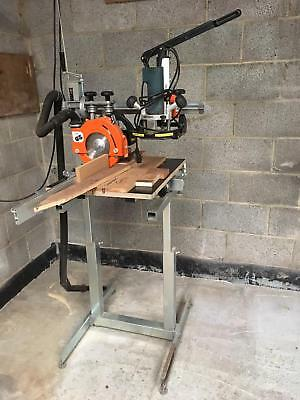 Eumenia M50L Radial Arm Saw -  240V  - including Router And support bench !
