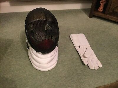 Escrime fencing jacket, breeches and underarm protect left handed plus glove and