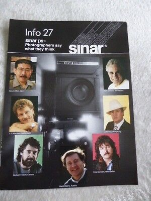 Sinar Information Sheet No 27. Sinar P2. Photographers say what they think. 1986