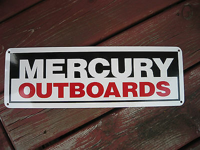 Mercury Marine Outboard Motor Sign Mechanic Marina Parts Ad Logo Free Shipping