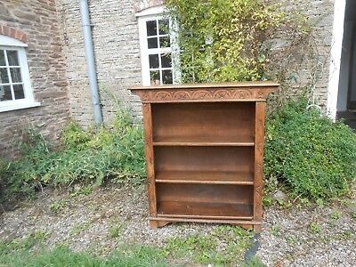 Victorian carved oak bookcase. Can arrange delivery.