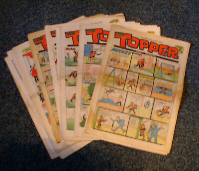 TOPPER COMICS x 19 (1971 - 1977) - GOOD CONDITION