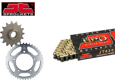 Yamaha YZF-R125 2008-2015 Gold O-Ring Up Geared Chain Kit (15-48 Tooth)