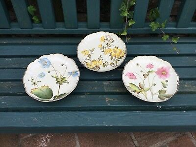 Crescent China Floral Cake Stands, George Jones Antique Comports Familiar Flower