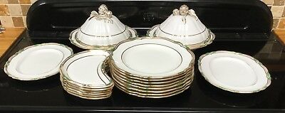 Spode Copelands Chancellor Green Part Dinner Service Soane Smith London
