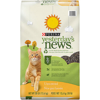 Purina Yesterday's News Unscented Cat Litter, 30 lbs., Bag